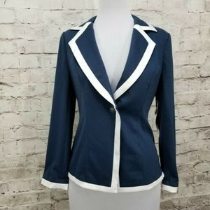 Ashro Size 12 One Button Blazer Chic Career Casual